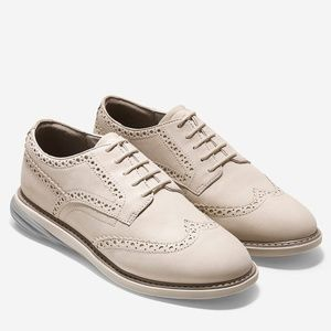 Cole Haan Grand OS Wingtip Oxford Pumice Stone